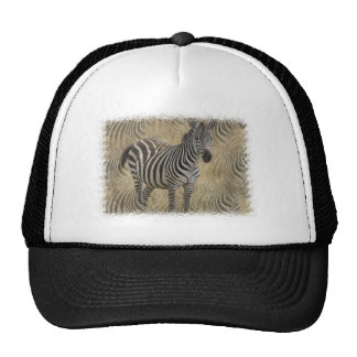 Striped Zebra Baseball Cap Trucker Hat