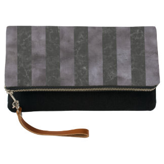 STRIPES1 BLACK MARBLE & BLACK WATERCOLOR CLUTCH