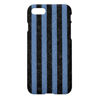 STRIPES1 BLACK MARBLE & BLUE DENIM iPhone 8/7 CASE