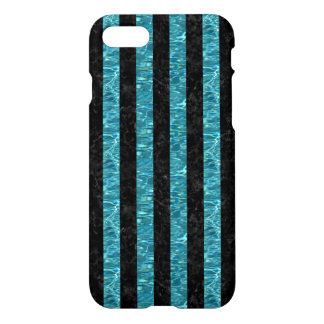 STRIPES1 BLACK MARBLE & BLUE-GREEN WATER iPhone 8/7 CASE