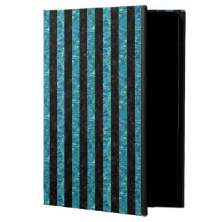 STRIPES1 BLACK MARBLE & BLUE-GREEN WATER POWIS iPad AIR 2 CASE