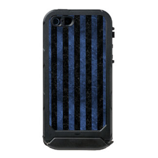 STRIPES1 BLACK MARBLE & BLUE STONE INCIPIO ATLAS ID™ iPhone 5 CASE