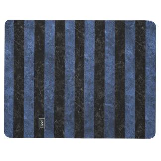 STRIPES1 BLACK MARBLE & BLUE STONE JOURNAL