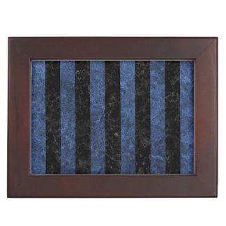 STRIPES1 BLACK MARBLE & BLUE STONE KEEPSAKE BOX