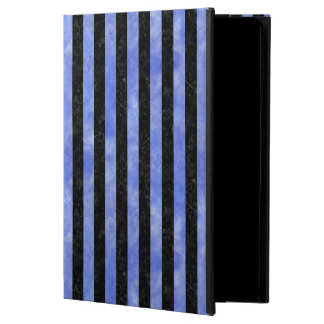 STRIPES1 BLACK MARBLE & BLUE WATERCOLOR POWIS iPad AIR 2 CASE