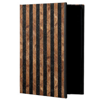 STRIPES1 BLACK MARBLE & BROWN STONE POWIS iPad AIR 2 CASE