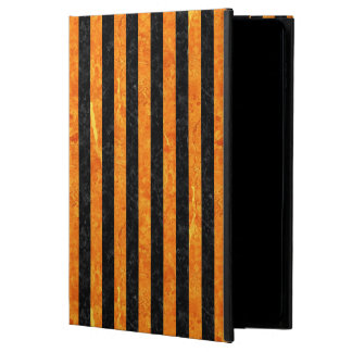 STRIPES1 BLACK MARBLE & ORANGE MARBLE