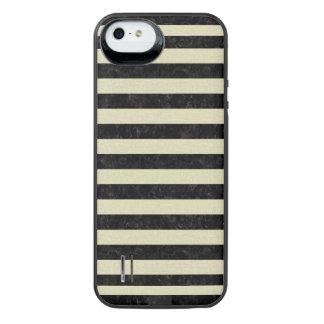STRIPES2 BLACK MARBLE & BEIGE LINEN iPhone SE/5/5s BATTERY CASE