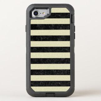STRIPES2 BLACK MARBLE & BEIGE LINEN OtterBox DEFENDER iPhone 8/7 CASE