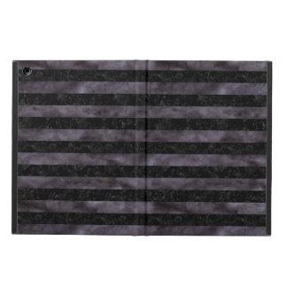 STRIPES2 BLACK MARBLE & BLACK WATERCOLOR iPad AIR CASE