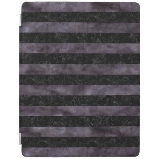 STRIPES2 BLACK MARBLE & BLACK WATERCOLOR iPad COVER