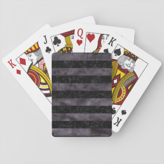STRIPES2 BLACK MARBLE & BLACK WATERCOLOR PLAYING CARDS