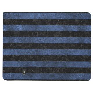 STRIPES2 BLACK MARBLE & BLUE STONE JOURNAL