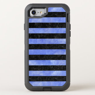 STRIPES2 BLACK MARBLE & BLUE WATERCOLOR OtterBox DEFENDER iPhone 8/7 CASE