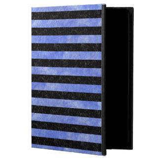STRIPES2 BLACK MARBLE & BLUE WATERCOLOR POWIS iPad AIR 2 CASE