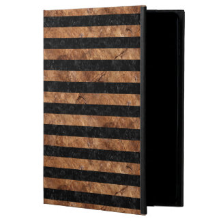 STRIPES2 BLACK MARBLE & BROWN STONE POWIS iPad AIR 2 CASE