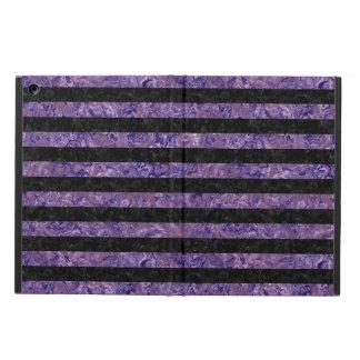 STRIPES2 BLACK MARBLE & PURPLE MARBLE iPad AIR COVER