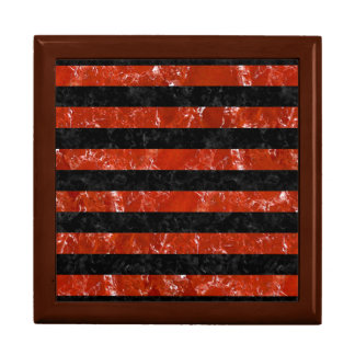 STRIPES2 BLACK MARBLE & RED MARBLE GIFT BOX