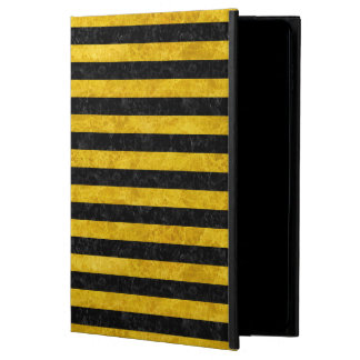 STRIPES2 BLACK MARBLE & YELLOW MARBLE POWIS iPad AIR 2 CASE