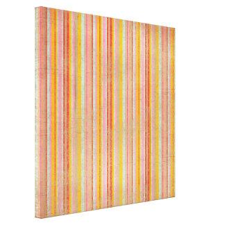 stripes34 PINK YELLOE CORAL LIGHT BLUE STRIPES BAC Canvas Print