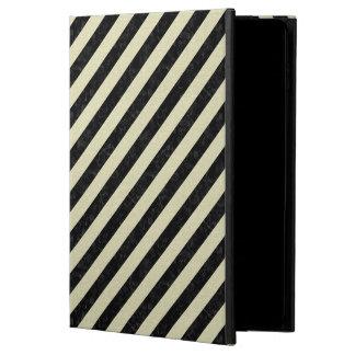 STRIPES3 BLACK MARBLE & BEIGE LINEN POWIS iPad AIR 2 CASE