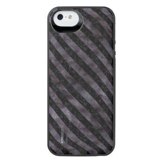STRIPES3 BLACK MARBLE & BLACK WATERCOLOR (R) iPhone SE/5/5s BATTERY CASE