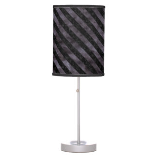 STRIPES3 BLACK MARBLE & BLACK WATERCOLOR (R) TABLE LAMP