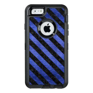 STRIPES3 BLACK MARBLE & BLUE BRUSHED METAL (R) OtterBox DEFENDER iPhone CASE