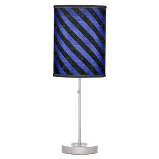 STRIPES3 BLACK MARBLE & BLUE BRUSHED METAL (R) TABLE LAMP