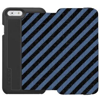 STRIPES3 BLACK MARBLE & BLUE DENIM INCIPIO WATSON™ iPhone 6 WALLET CASE