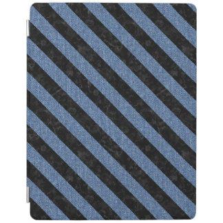 STRIPES3 BLACK MARBLE & BLUE DENIM (R) iPad COVER