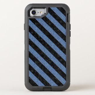 STRIPES3 BLACK MARBLE & BLUE DENIM (R) OtterBox DEFENDER iPhone 8/7 CASE