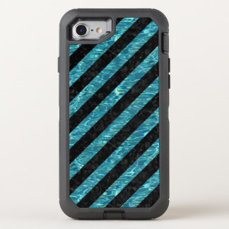 STRIPES3 BLACK MARBLE & BLUE-GREEN WATER OtterBox DEFENDER iPhone 8/7 CASE
