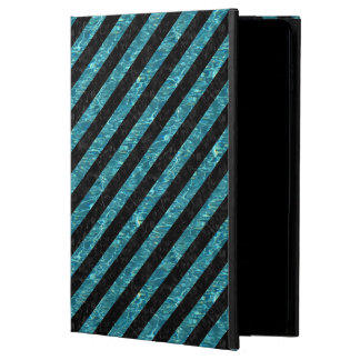 STRIPES3 BLACK MARBLE & BLUE-GREEN WATER POWIS iPad AIR 2 CASE