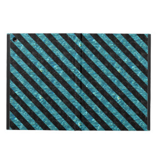 STRIPES3 BLACK MARBLE & BLUE-GREEN WATER (R) COVER FOR iPad AIR