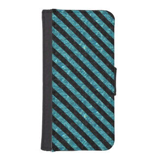 STRIPES3 BLACK MARBLE & BLUE-GREEN WATER (R) iPhone SE/5/5s WALLET CASE