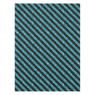 STRIPES3 BLACK MARBLE & BLUE-GREEN WATER (R) TABLECLOTH