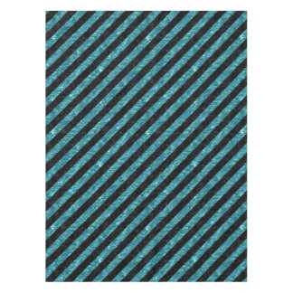 STRIPES3 BLACK MARBLE & BLUE-GREEN WATER TABLECLOTH