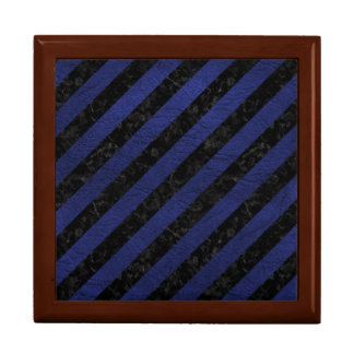 STRIPES3 BLACK MARBLE & BLUE LEATHER GIFT BOX