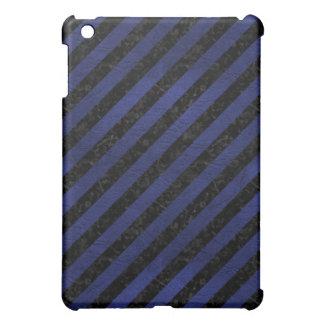 STRIPES3 BLACK MARBLE & BLUE LEATHER iPad MINI COVERS