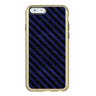STRIPES3 BLACK MARBLE & BLUE LEATHER (R) INCIPIO FEATHER® SHINE iPhone 6 CASE