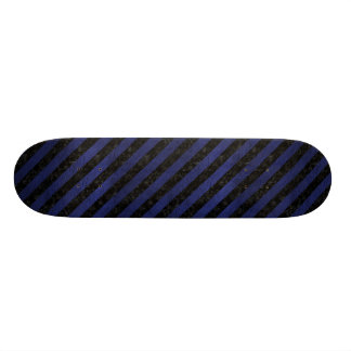 STRIPES3 BLACK MARBLE & BLUE LEATHER (R) SKATE BOARD DECK