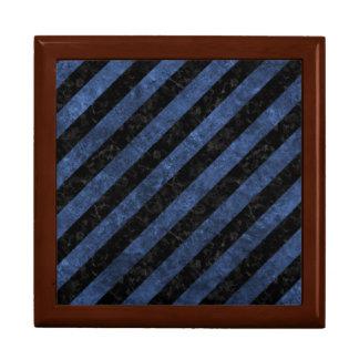 STRIPES3 BLACK MARBLE & BLUE STONE GIFT BOX