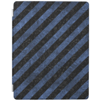 STRIPES3 BLACK MARBLE & BLUE STONE iPad COVER