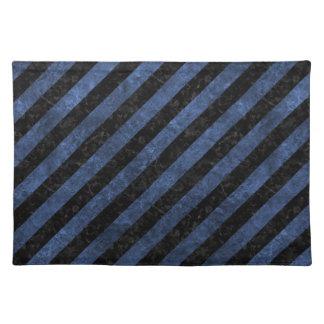 STRIPES3 BLACK MARBLE & BLUE STONE PLACEMAT