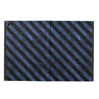 STRIPES3 BLACK MARBLE & BLUE STONE (R) iPad AIR CASE