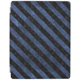 STRIPES3 BLACK MARBLE & BLUE STONE (R) iPad COVER