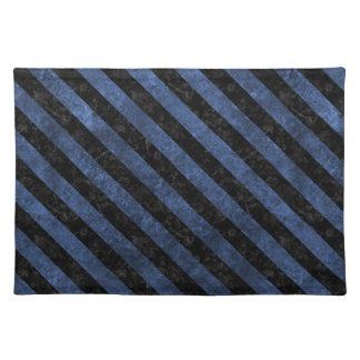 STRIPES3 BLACK MARBLE & BLUE STONE (R) PLACEMAT