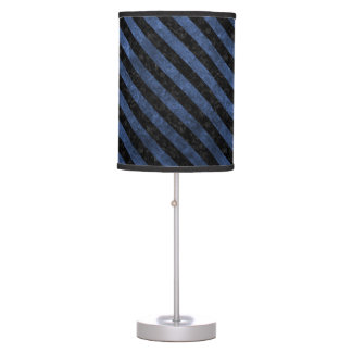 STRIPES3 BLACK MARBLE & BLUE STONE (R) TABLE LAMP