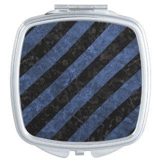 STRIPES3 BLACK MARBLE & BLUE STONE VANITY MIRRORS